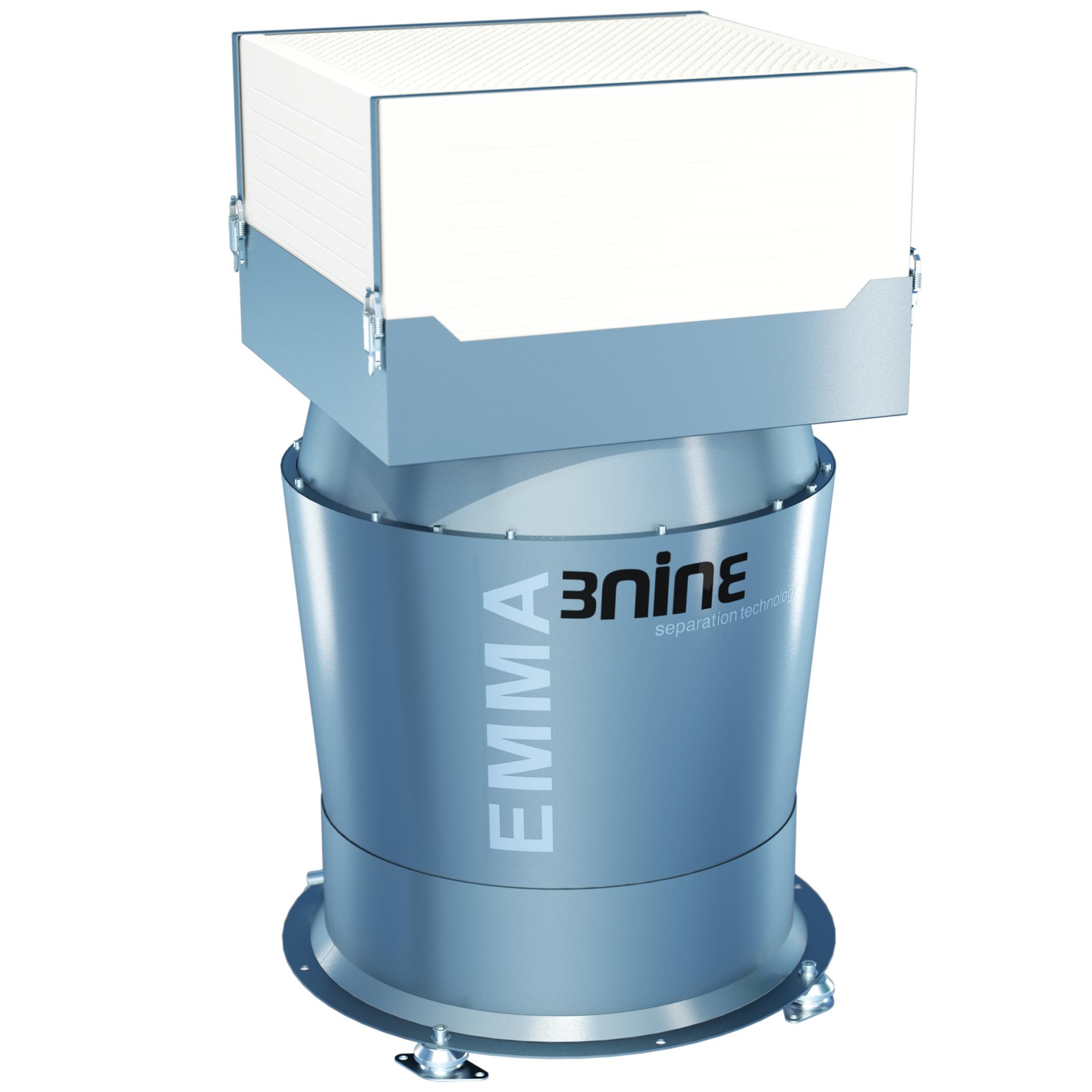 Emma-pisaraerotin on 3ninen BLUE LINE -sarjan suurin laite. Se on suunniteltu erityisesti sovelluksille, joissa suuri ilmavirtaus on keskeisen tärkeää, kuten erittäin suuret kammiot tai avoimet työstökoneet